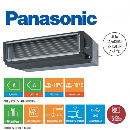 Panasonic kit 60pny1e5 c4 conductos venta de aire for Aire acondicionado por conductos panasonic