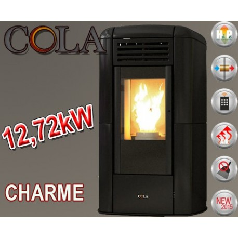 Estufa de Pellet Cola CHARME