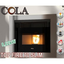 Estufa insertable de pellet COLA TOP FIRE 70 SLIM 8,62kW