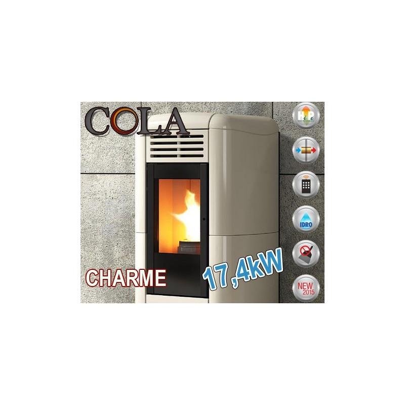 Termoestufas de pellet COLA CHARME 17,4 kW