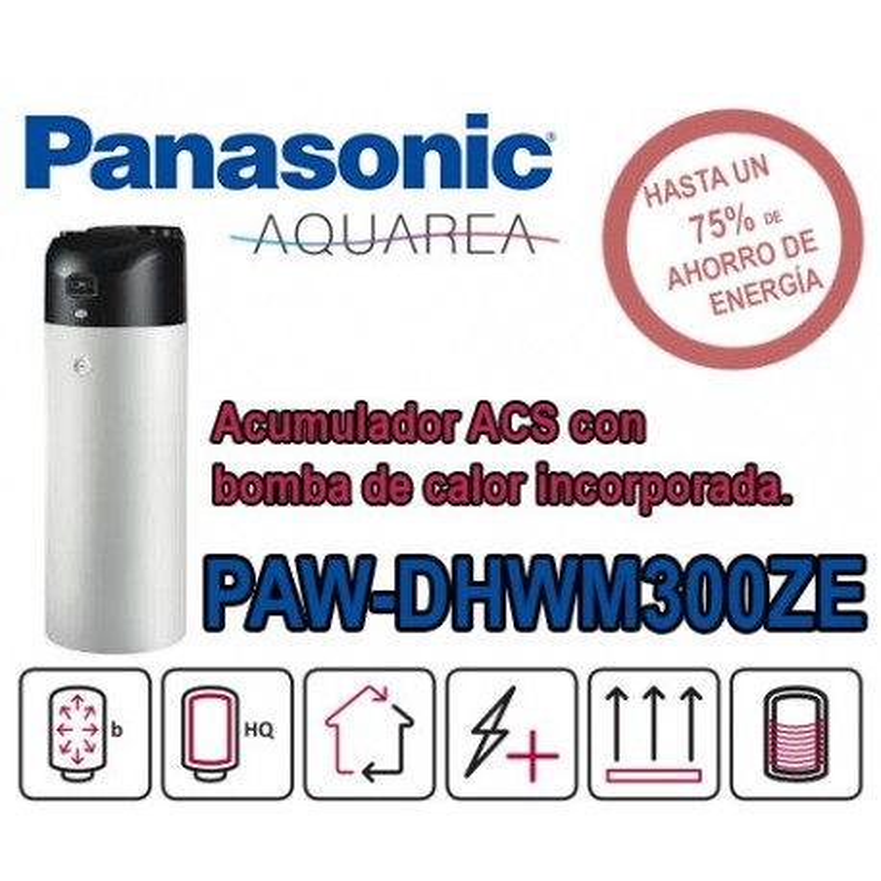 Bomba de calor ACS Panasonic Aquarea PAW-DHWM300ZE