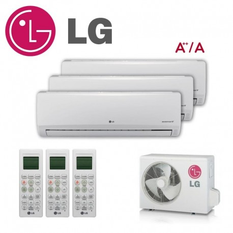 LG 3X1 PM09SP + PM12SP + PM12SP + MU3M21 CONFORT CONNECT WIFI
