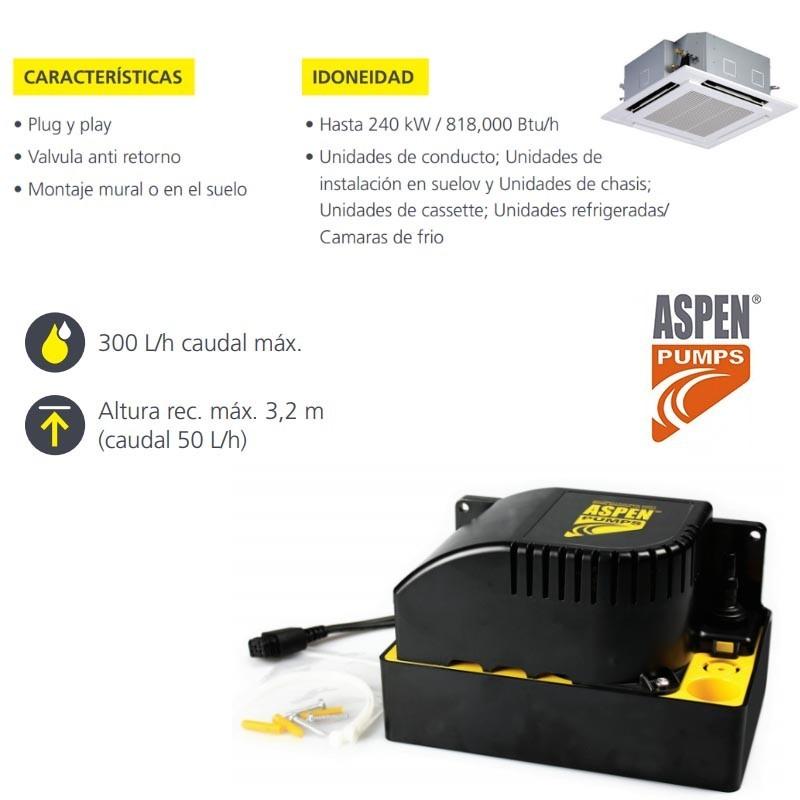Bomba de condensación Aspen Pumps hi-flow 0,5L