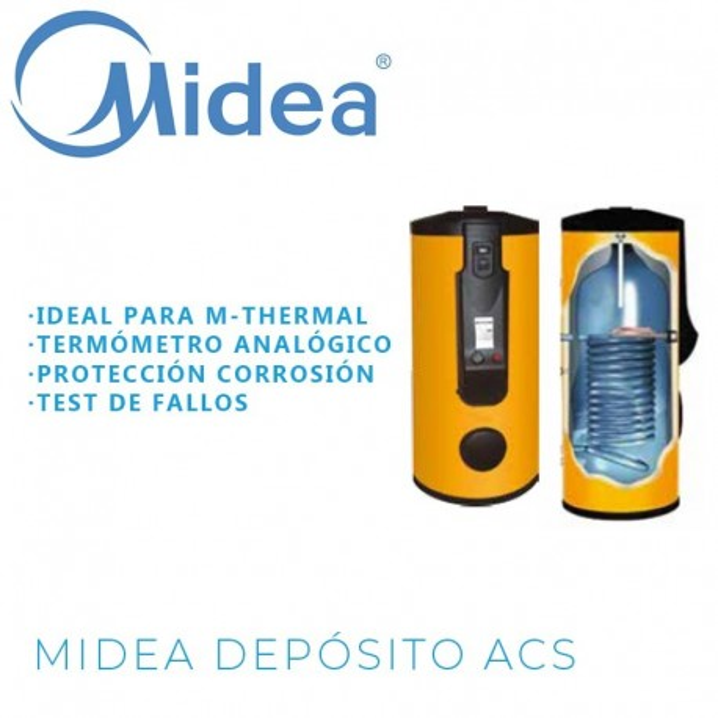 Midea G-1002 Depósito ACS 2 Serpentines