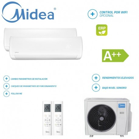 Midea Mission 2x1 M2OF-18HFN1-Q + 9 + 12
