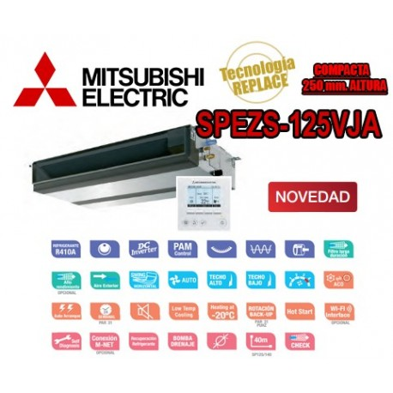 Mitsubishi Electric SPEZS-125VJA + PAR-31MAA