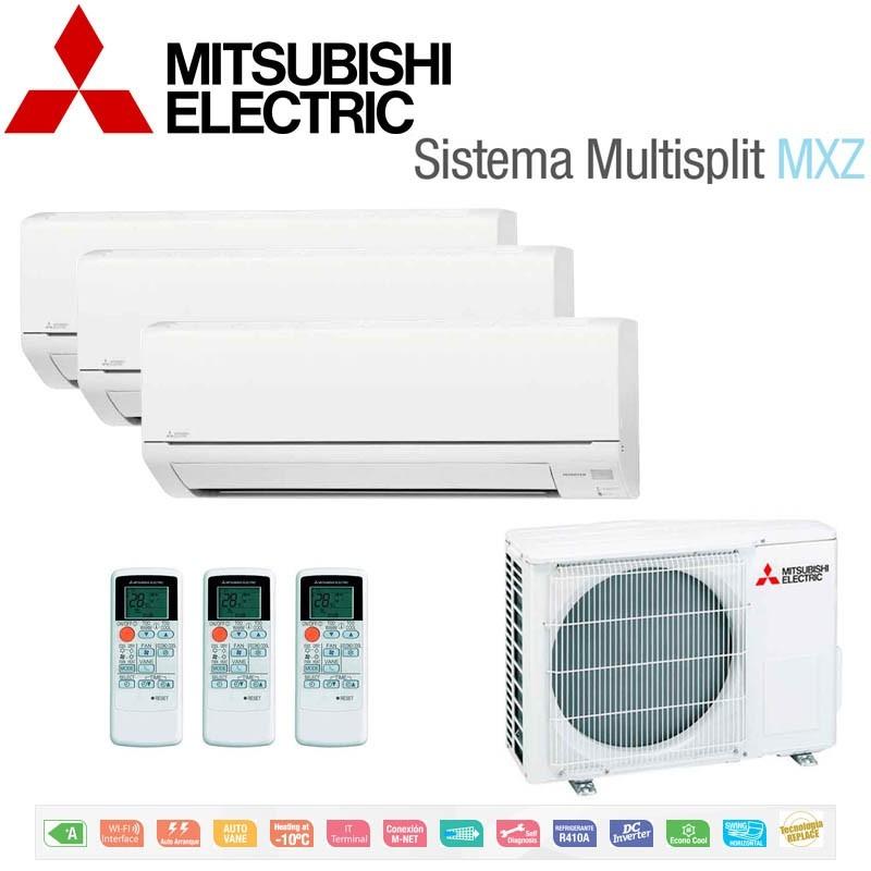 Mitsubishi Electric 3x1 MSZ-DM25VA + MSZ-DM25VA + MSZ-DM35VA + MXZ-3DM50VA