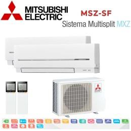 Mitsubishi Electric 2x1 MSZ-SF20VA + MSZ-SF20VA + MXZ-2D33VA