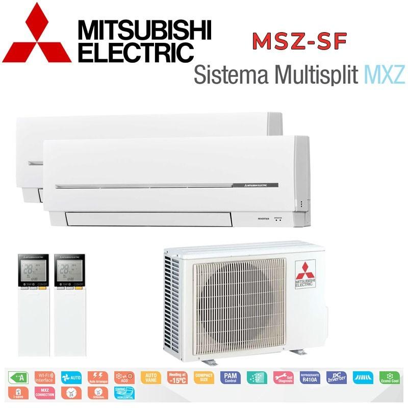 Mitsubishi Electric 2x1 MSZ-SF20VA + MSZ-SF25VA + MXZ-2D42VA