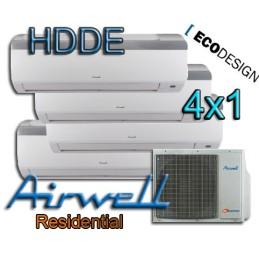 4X1 AIRWELL multisplit HZDE-9-9-9-12-430-H11 2200+2200+2200+3000 frigorias