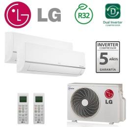 LG 2X1 PC09SQ + PC09SQ + MU2R15 CONFORT CONNECT WIFI