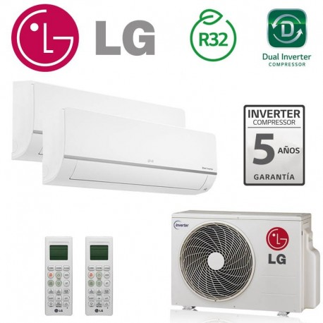 LG 2X1 PC09SQ + PC09SQ + MU2R15 CONFORT CONNECT WIFI