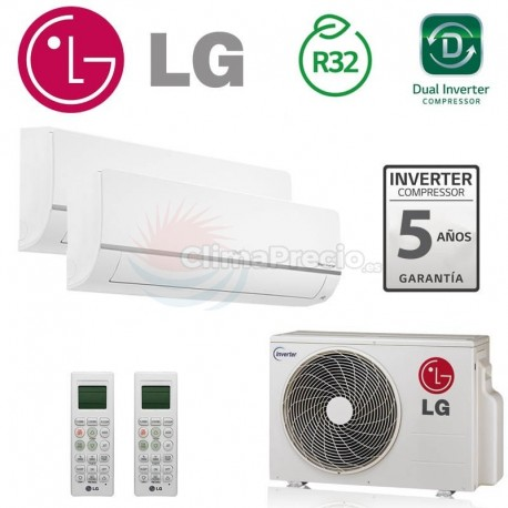 LG 2X1 PC09SQ + PC12SQ + MU2R17 CONFORT CONNECT WIFI