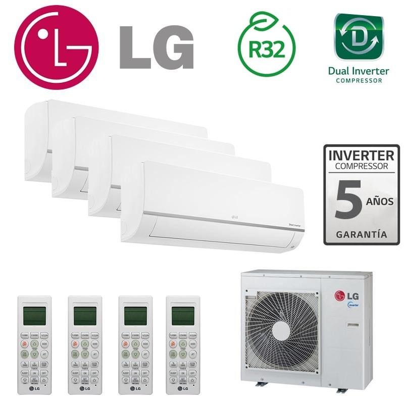 LG Confort Connect WiFi 4x1 PM09SP + PM09SP + PM12SP + PM12SP + MU4M27