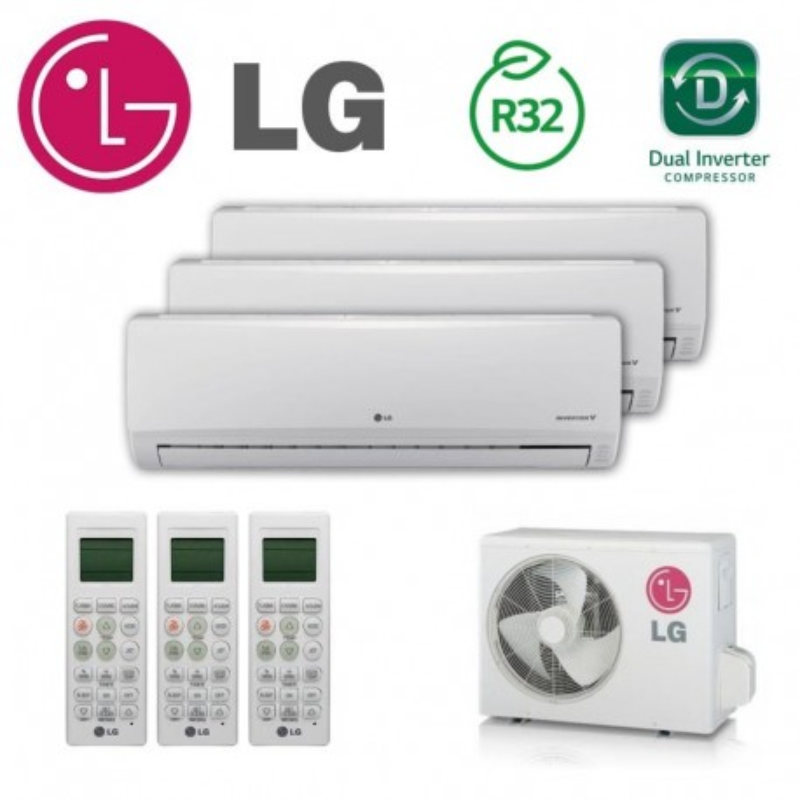 LG 3X1 PC09SQ + PC09SQ + PC18SQ + MU4R25 CONFORT CONNECT WIFI