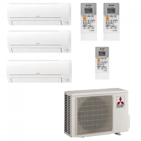 Mitsubishi Electric MXZ-3HA50VF + MSZ-HR25VF + MSZ-HR25VF + MSZ-HR25VF Kit 3x1