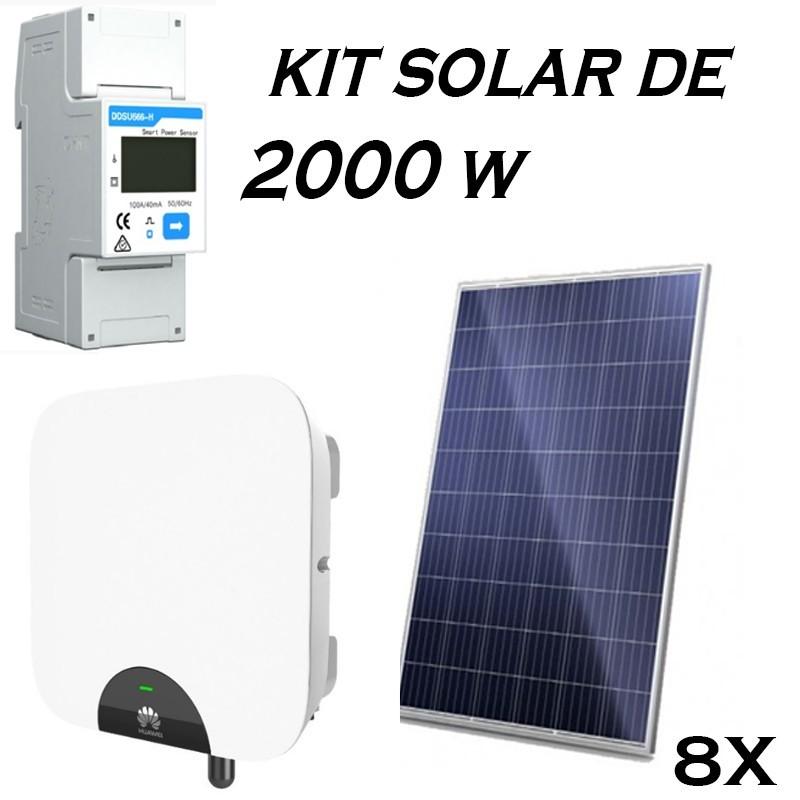 Kit Solar 2 KW inyección 0 Huawei