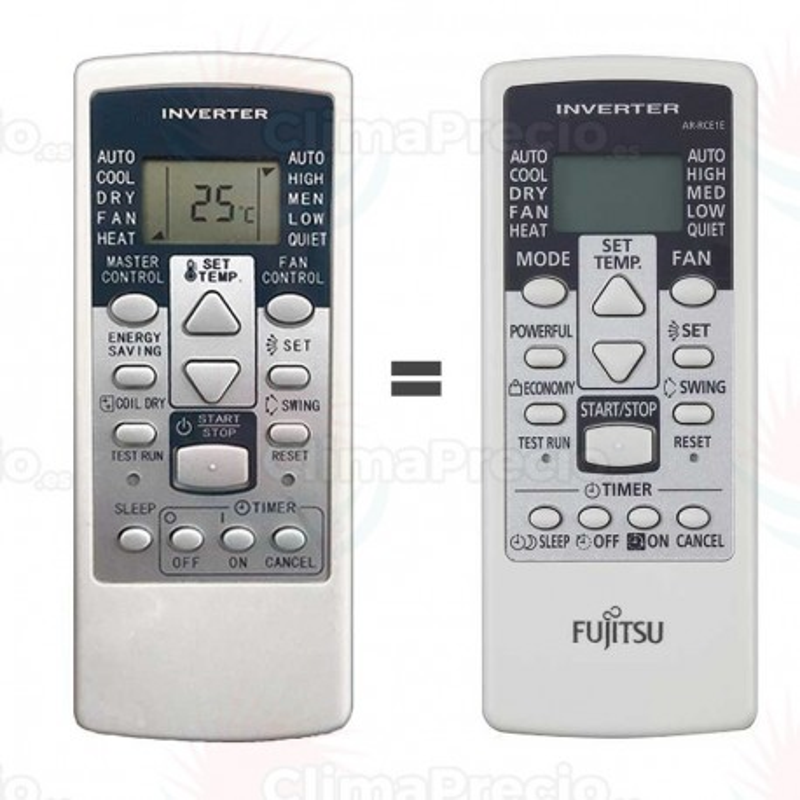 Mando AR-RCD1C recambio Fujitsu sustituto