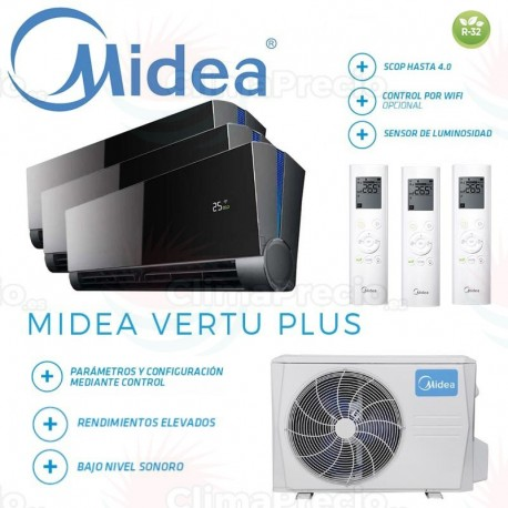 Midea Vertu Plus 3x1 M3OF-21HFN8-Q + 9 + 9 + 12