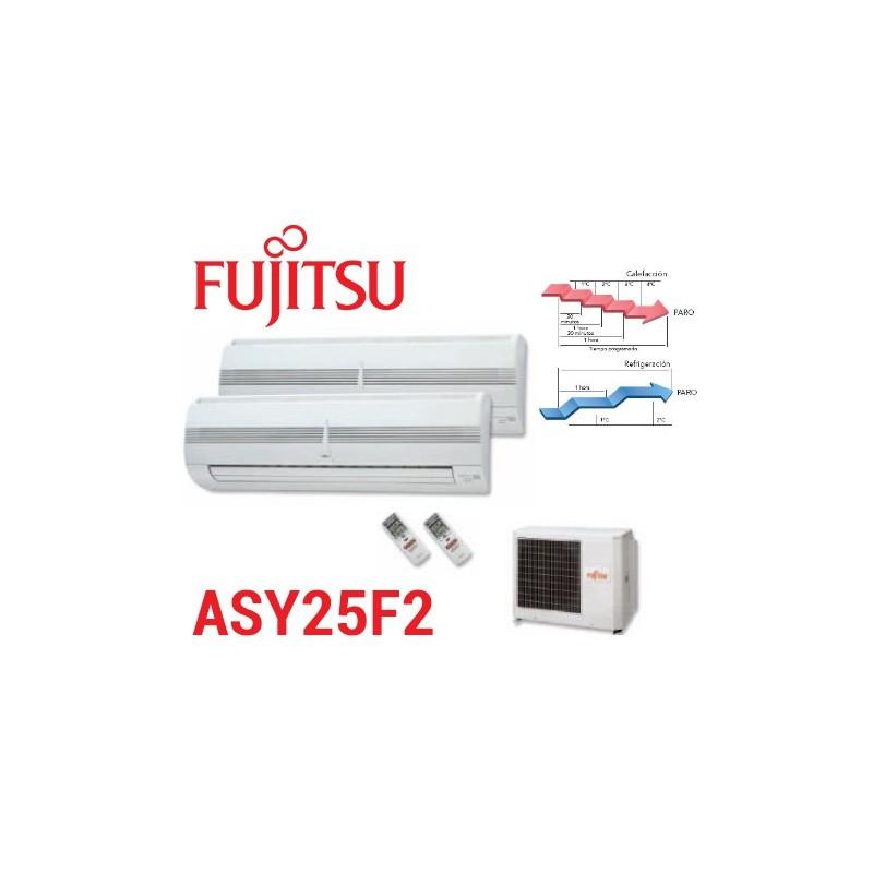 2X1 Fujitsu ASY25F2 2400+2400 SOLO FRIO