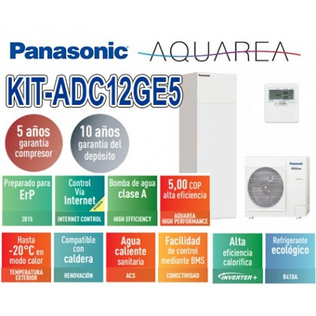 Panasonic Aquarea AIO KIT-ADC12GE5