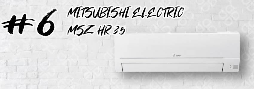 Muestra un split Mitsubishi Electric MSZ-HR35 en una pared blanca